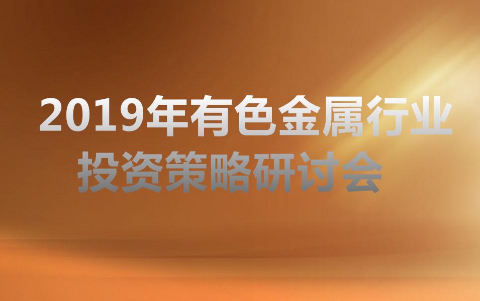 2019年有色金属行业投资策略研讨会