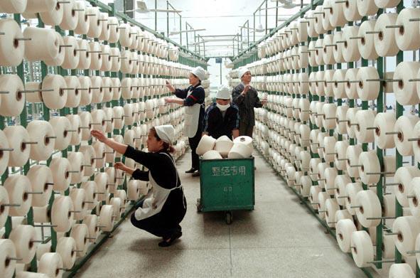 棉纱产能逐渐向我国棉花主产区新疆转移